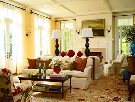 Interior Design by Jennifer Garrigues, from Traditional Home